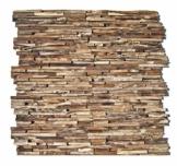 HO-M-006-1 Holzpaneele Teak-Holz Wandverblender Wanddesign Holzwand - Fliesen Lager Verkauf Stein-mosaik Herne NRW - 1