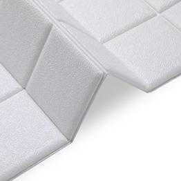 KINLO 5pcs 3D Wandplatten Brick 60 x 60cm Wandaufkleber Fototapete Wandtapete Abnehmbare Selbstklebend, Dekor für Wohnzimmer, Schlafzimmer, Kinderzimmer, Badezimmer oder Küche - 1