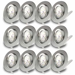 LED Einbaustrahler Schwenkbar Ultra Flach Inkl. 12 x 5W LED Modul IP23 Einbauspot Spot Deckeneinbauleuchte 12 x 400lm - 1