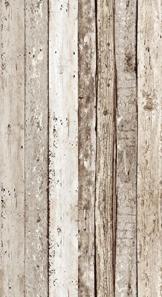 Livingwalls selbstklebendes Panel Pop up Panel Vintage Holzoptik fotorealistisch 2,50 m x 0,35 m beige braun Made in Germany 942192 94219-2 - 1