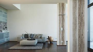 Livingwalls selbstklebendes Panel Pop up Panel Vintage Holzoptik fotorealistisch 2,50 m x 0,35 m beige braun Made in Germany 942192 94219-2 - 3
