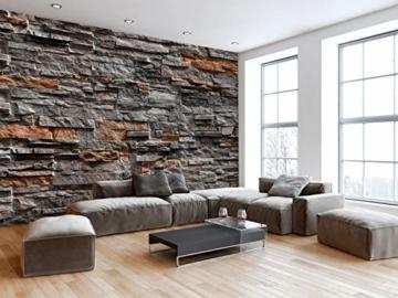 murando - Fototapete Steinoptik 400x280 cm - Vlies Tapete - Moderne Wanddeko - Design Tapete - Wandtapete - Wand Dekoration - Steintapete Steine Stein Mauer Steinoptik 3D f-B-0086-a-b - 3