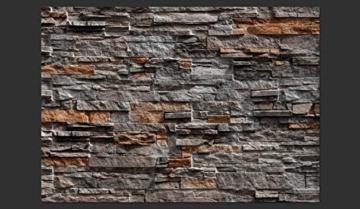 murando - Fototapete Steinoptik 400x280 cm - Vlies Tapete - Moderne Wanddeko - Design Tapete - Wandtapete - Wand Dekoration - Steintapete Steine Stein Mauer Steinoptik 3D f-B-0086-a-b - 4