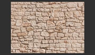 murando - Fototapete Steinoptik 400x280 cm - Vlies Tapete - Moderne Wanddeko - Design Tapete - Wandtapete - Wand Dekoration - Steintapete beige Steine Stein Mauer Steinoptik 3D f-B-0061-a-a - 2