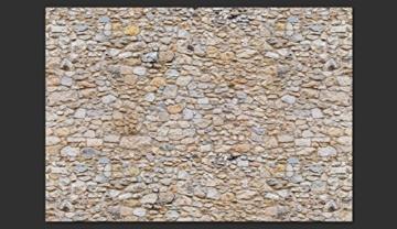 murando - Fototapete Steinoptik 400x280 cm - Vlies Tapete - Moderne Wanddeko - Design Tapete - Wandtapete - Wand Dekoration - Steintapete Steine Stein Mauer Steinoptik 3D f-B-0001-a-a - 3