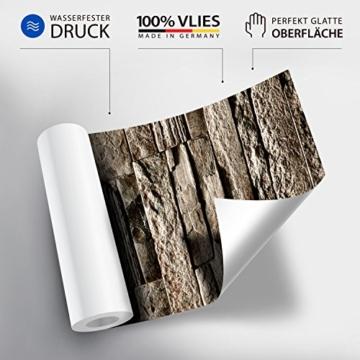 murando - Fototapete Steinoptik 400x280 cm - Vlies Tapete - Moderne Wanddeko - Design Tapete - Wandtapete - Wand Dekoration - Steintapete Steine Stein Mauer Steinoptik 3D f-B-0013-a-a - 4