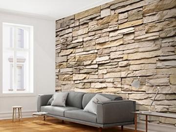 murando - Fototapete Steinoptik 400x280 cm - Vlies Tapete - Moderne Wanddeko - Design Tapete - Wandtapete - Wand Dekoration - Steintapete Steine Stein Mauer Steinoptik 3D f-B-0013-a-a - 7