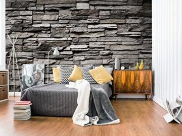 murando - Fototapete Steinwand 400x280 cm - Vlies Tapete - Moderne Wanddeko - Design Tapete - Wandtapete - Wand Dekoration - Steintapete Steine Stein Mauer Steinoptik 3D f-B-0020-a-a - 3