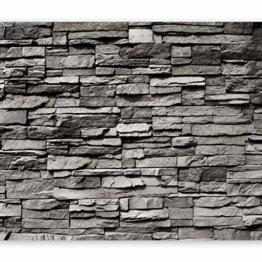 murando - Fototapete Steinwand 400x280 cm - Vlies Tapete - Moderne Wanddeko - Design Tapete - Wandtapete - Wand Dekoration - Steintapete Steine Stein Mauer Steinoptik 3D f-B-0020-a-a - 1