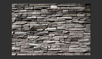 murando - Fototapete Steinwand 400x280 cm - Vlies Tapete - Moderne Wanddeko - Design Tapete - Wandtapete - Wand Dekoration - Steintapete Steine Stein Mauer Steinoptik 3D f-B-0020-a-a - 8