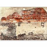 murando - Vlies Fototapete 500x280 cm - Größe Format XXL- Vlies Tapete - Moderne Wanddeko - Design Tapete - Ziegel Ziegelstein f-A-0503-x-b - 1