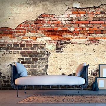 murando - Vlies Fototapete 500x280 cm - Größe Format XXL- Vlies Tapete - Moderne Wanddeko - Design Tapete - Ziegel Ziegelstein f-A-0503-x-b - 3