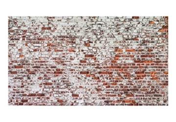 murando - Vlies Fototapete 500x280 cm - Vlies Tapete - Moderne Wanddeko - Design Tapete - Ziegel Mauer mehrfarbig Ziegelstein Steine f-A-0452-a-a - 5