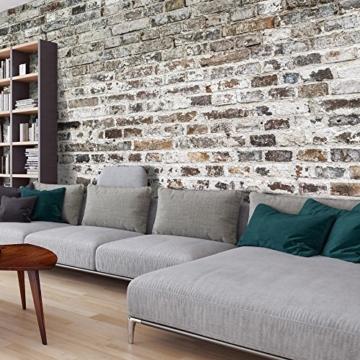 murando - Vlies Fototapete 500x280 cm - Vlies Tapete - Moderne Wanddeko - Design Tapete - Textur Ziegel Mauer Beton f-A-0457-a-a - 1