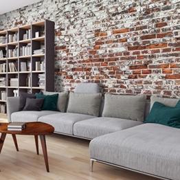 murando - Vlies Fototapete 500x280 cm - Vlies Tapete - Moderne Wanddeko - Design Tapete - Ziegel Mauer mehrfarbig Ziegelstein Steine f-A-0452-a-a - 1