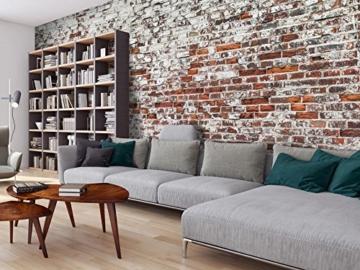 murando - Vlies Fototapete 500x280 cm - Vlies Tapete - Moderne Wanddeko - Design Tapete - Ziegel Mauer mehrfarbig Ziegelstein Steine f-A-0452-a-a - 3