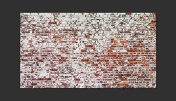 murando - Vlies Fototapete 500x280 cm - Vlies Tapete - Moderne Wanddeko - Design Tapete - Ziegel Mauer mehrfarbig Ziegelstein Steine f-A-0452-a-a - 4