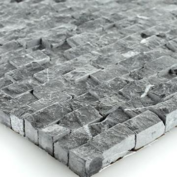 Naturstein Wand Mosaik 3D Brickstones Verblender Anthrazit - 1