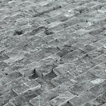 Naturstein Wand Mosaik 3D Brickstones Verblender Anthrazit - 2