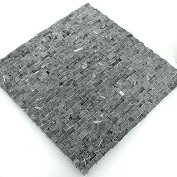 Naturstein Wand Mosaik 3D Brickstones Verblender Anthrazit - 3