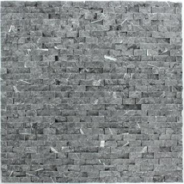 Naturstein Wand Mosaik 3D Brickstones Verblender Anthrazit - 4