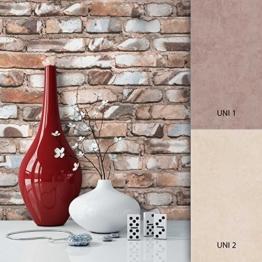 NEWROOM Steintapete Braun Papiertapete Stein Muster/Motiv schöne moderne und edle Design 3D Optik , inklusive Tapezier Ratgeber - 1