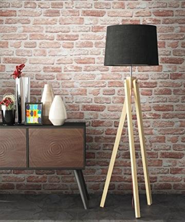 NEWROOM Steintapete rot Vliestapete braun Jung,Modern,Stein Muster/Motiv schöne moderne und edle Design 3D Optik , inklusive Tapezier Ratgeber - 4