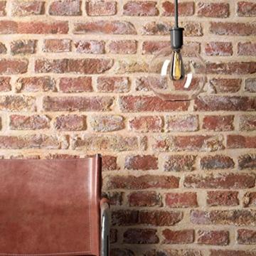 NEWROOM Steintapete Tapete Rot Mauer Stein Modern Papiertapete Braun Papier moderne Design 3D Optik Steintapete Ziegelstein Backstein Mauerwerk Klinker Loft inkl. Tapezier Ratgeber - 2