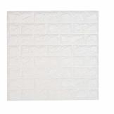 NHSUNRAY 3d Ziegelstein Tapete Selbstklebend für Wohnzimmer Dekor (60 x 60 cm 1 Stück) - 1
