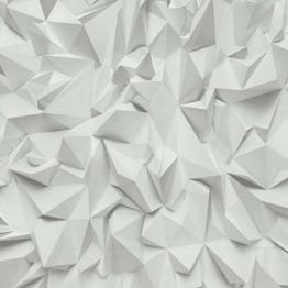 P&S International Zeiten 3D Effekt Dreieckiger Muster Geometrisch Strukturtapete 42097-10 - 1