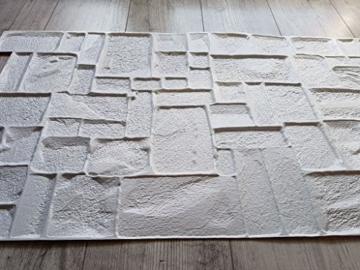 PVC-Kunststoff Wandpaneele 3D Deko Fliesen Verkleidung – Naturstein - 34 - 6