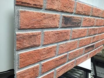 Steinoptik Wandverkleidung für Wohnzimmer, Küche, Terrasse oder Schlafzimmer in Klinkeroptik Look. (ST 353-110) - 2