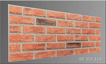 Steinoptik Wandverkleidung für Wohnzimmer, Küche, Terrasse oder Schlafzimmer in Klinkeroptik Look. (ST 353-110) - 3