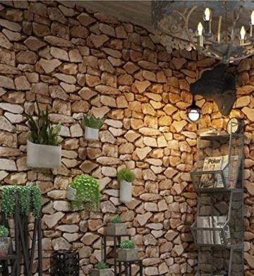 Steintapete 3d Optik,Tapete Steinoptik - Moderne Wanddeko Design PVC Stone Wallpaper Wandtapete Wand Dekoration Steintapete Steine Stein Mauer Steinoptik,0.53m*10m (Tapete Steinoptik) - 1