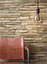 Steintapete Vlies Braun Beige   schöne edle Tapete im Steinmauer Design   moderne 3D Optik für Wohnzimmer, Schlafzimmer oder Küche inklusive NewroomTapezier-Profibroschüre, mit Tipps für perfekteWände - 1