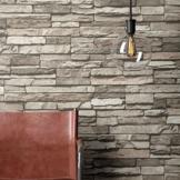 Steintapete Vlies Grau Edel   schöne edle Tapete im Steinmauer Design   moderne 3D Optik für Wohnzimmer, Schlafzimmer oder Küche inklusive NewroomTapezier-Profibroschüre, mit Tipps für perfekteWände - 1