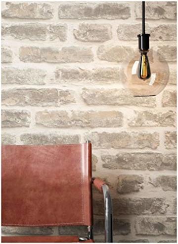 Steintapete Vliestapete Grau Creme, schöne edle Tapete im Steinoptik, moderne 3D Optik für Wohnzimmer, Schlafzimmer oder Küche inklusive Newroom Tapezier Profibroschüre, mit Tipps für perfekteWände - 1