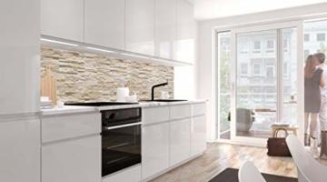 StickerProfis Küchenrückwand selbstklebend Pro STEINWAND Ashlar 60 x 60cm DIY - Do It Yourself PVC Spritzschutz - 2