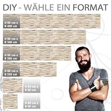 StickerProfis Küchenrückwand selbstklebend Pro STEINWAND Ashlar 60 x 60cm DIY - Do It Yourself PVC Spritzschutz - 3