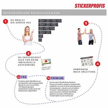 StickerProfis Küchenrückwand selbstklebend Pro STEINWAND Ashlar 60 x 60cm DIY - Do It Yourself PVC Spritzschutz - 4