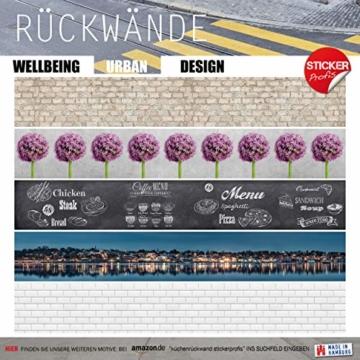 StickerProfis Küchenrückwand selbstklebend Pro STEINWAND Ashlar 60 x 60cm DIY - Do It Yourself PVC Spritzschutz - 9