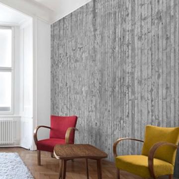 Vliestapete–Beton–Beton Wand Paneele–Fototapete quadratisch - 2