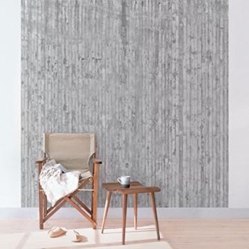 Vliestapete–Beton–Beton Wand Paneele–Fototapete quadratisch - 4