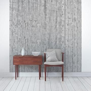 Vliestapete–Beton–Beton Wand Paneele–Fototapete quadratisch - 5