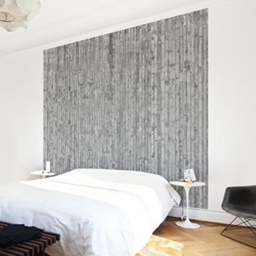Vliestapete–Beton–Beton Wand Paneele–Fototapete quadratisch - 6