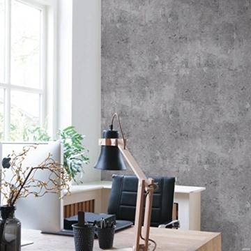 Vliestapete Beton Optik grau Betontapete Industrial Loft Stein Wand 68653 - 2
