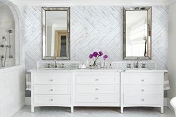 Wandpaneele selbstklebend aus Echtholz von Mywoodwall - Schöne Wandverkleidung - Brushed Coral (weiß), 100% FSC-zertifiziert und Umweltfreundlich, 1 Paket a 1,725m² - 3