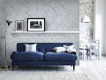 Wandpaneele selbstklebend aus Echtholz von Mywoodwall - Schöne Wandverkleidung - Brushed Coral (weiß), 100% FSC-zertifiziert und Umweltfreundlich, 1 Paket a 1,725m² - 7