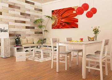 Wandpaneele selbstklebend aus Echtholz von Mywoodwall - Schöne Wandverkleidung - Brushed Coral (weiß), 100% FSC-zertifiziert und Umweltfreundlich, 1 Paket a 1,725m² - 8
