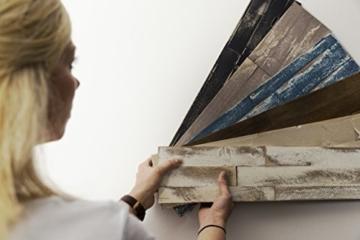Wandpaneele selbstklebend aus Echtholz von Mywoodwall - Schöne Wandverkleidung - Brushed Coral (weiß), 100% FSC-zertifiziert und Umweltfreundlich, 1 Paket a 1,725m² - 9